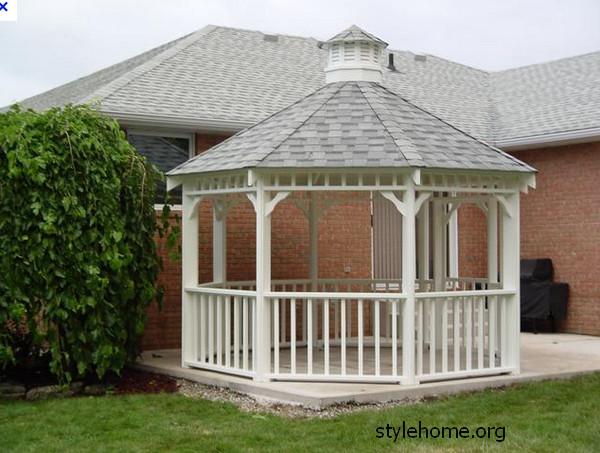 Беседка в саду, строительство, проектирование