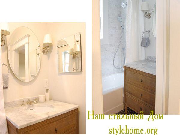 интерьер маленькой ванной комнате