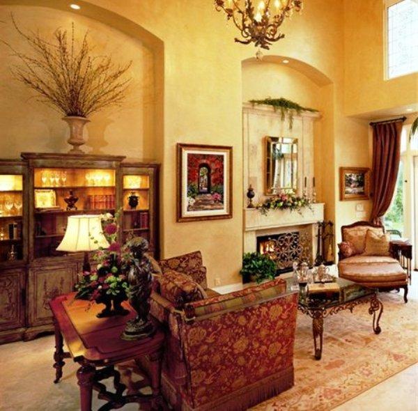 венецианский стиль в интерьере гостиной