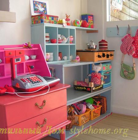 Полки для хранения игрушек