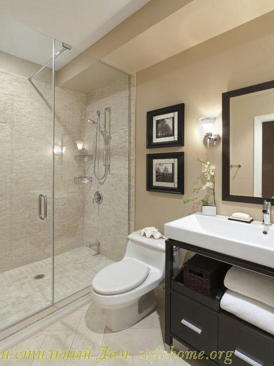 нейтральные цвета в ванной