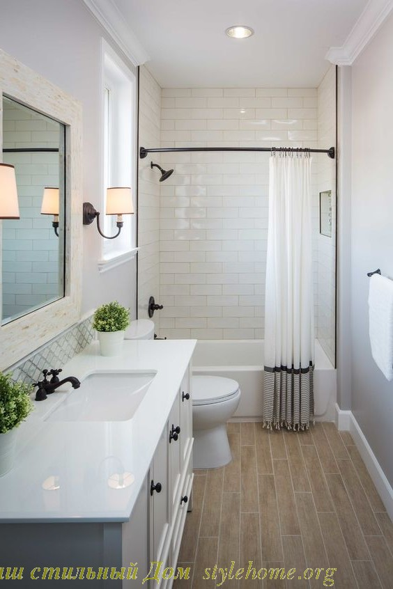 современный стиль в белой ванной комнате