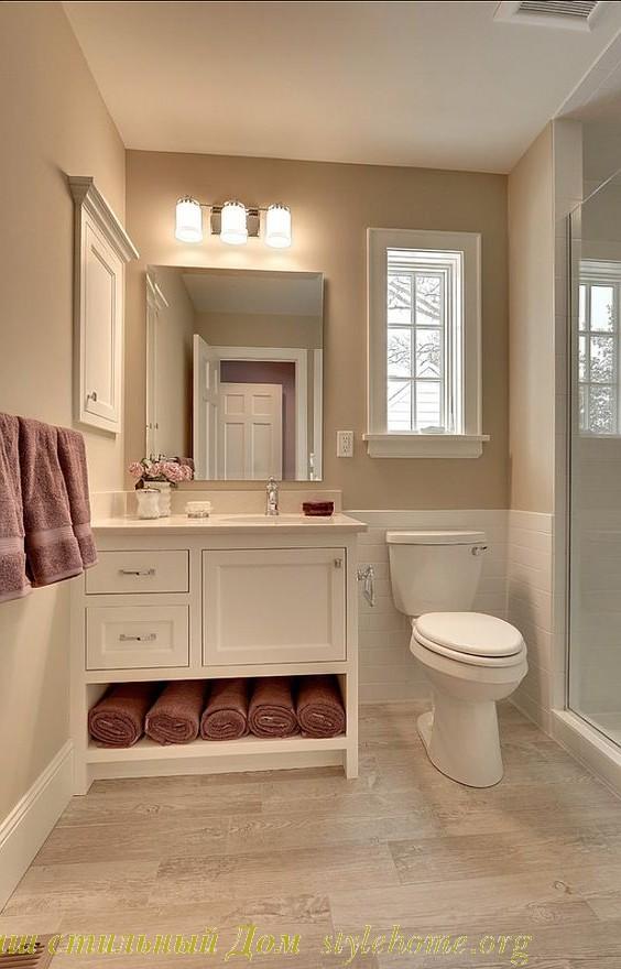 Традиционный белый дизайн ванной
