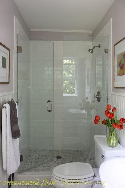 супер маленький проект ванной комнаты с душем и туалетом