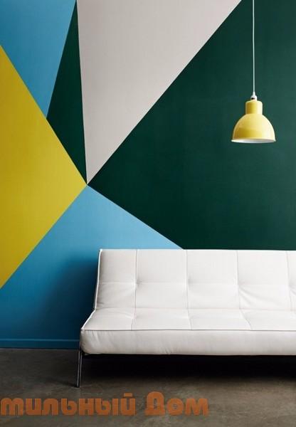 Идеи настенной живописи - геометрические узоры