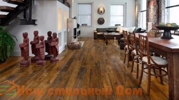 Восстановленные деревянные полы, особенности и правила ухода