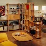 мебель в однокомнатной квартире, стеллаж